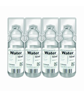 WATER FOR INJECTIONS (B Braun Miniplasco), 10ml, Per Ampoule