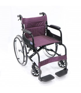 "Wheelchair (Soma) 18"" Light Weight, Standard with Foldback and Assisted Brake, Per Unit"