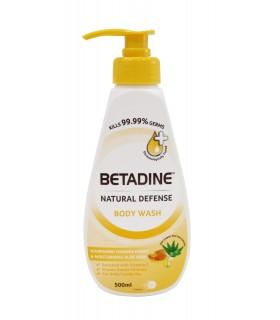 Betadine Natural Defence Body Wash Nourishing Manuka Honey & Moisturising Aloe Vera, 500ml