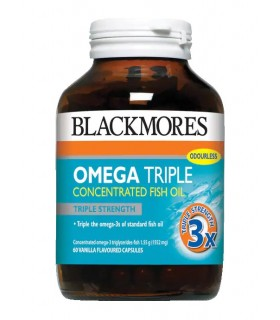 Blackmores Omega Triple Concentrated Fish Oil 60's/Bot