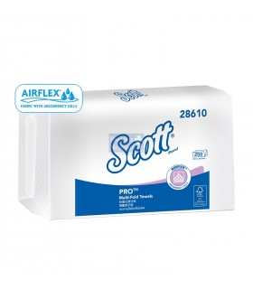SCOTT Multi-Fold Airflex Hand Towel (RF), 1-Ply, 24cm x 23cm, 250 Pcs/Pkt