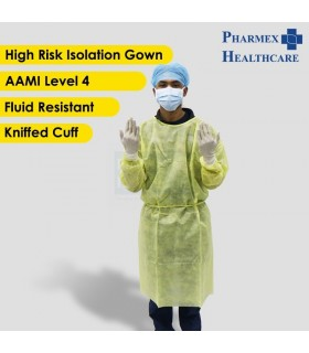 ASSURE High Risk Isolation Gown (AAMI Level 4) Yellow, 125cm x 140cm, 1pc