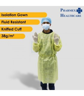 ASSURE Isolation Gown Yellow , 38g/m², 1 Pcs