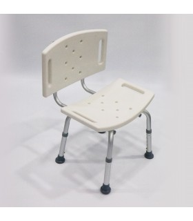 Shower Chair (ASSURE Rehab), Aluminum with Back Rest, AR0243, Per Unit