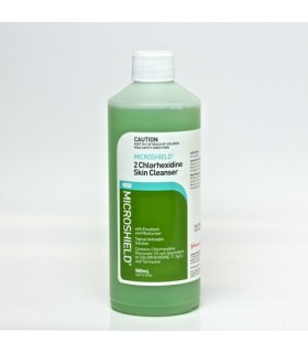 Microshield 2 Skin Cleanser with 2% Chlorhexidine 500ml, Per Bottle