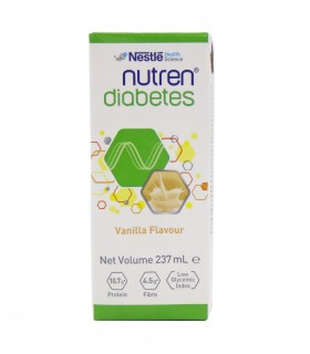 Nutren Diabetic Liquid Vanilla (Nestle), 237ml, Per Pack