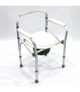 Commode Chair (ASSURE Rehab), Foldable, Height Adjustable, AR0230, Per Piece