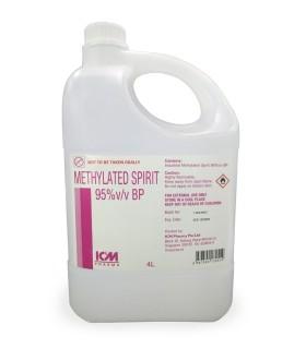 Methylated Spirit 95% 4 litres, Per Bottle